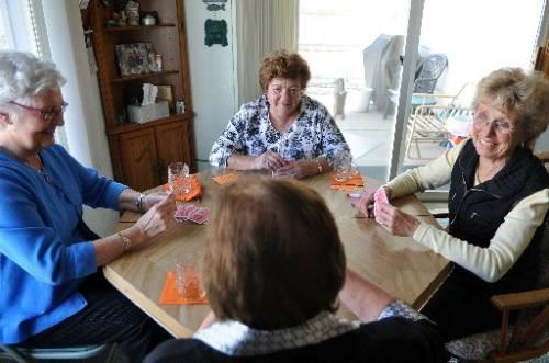 Pinochle players